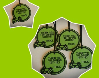 Gamer Party Favor Tags - Video Game Birthday Party Favor Tags - Birthday Party Favor Tags Set of 12