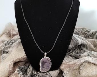 Purple Geode Necklace
