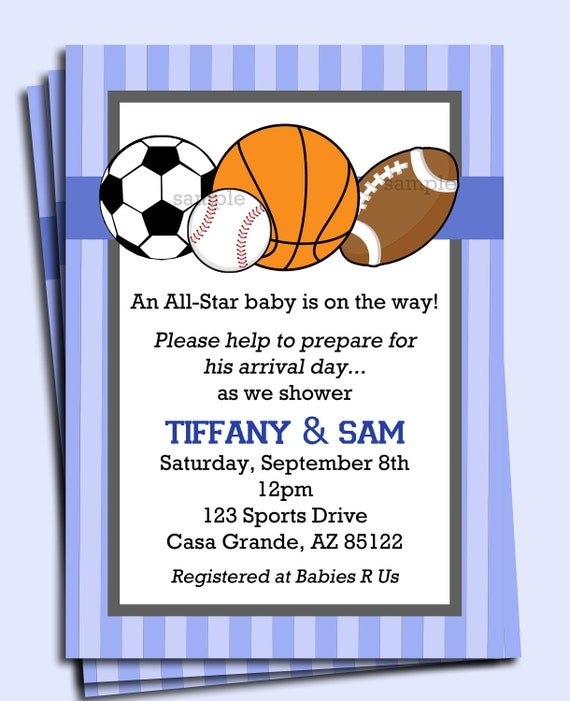 All star sports invitation printable or printed with free all star sports invitation printable or printed with free shipping boys birthday baby shower etc filmwisefo Image collections