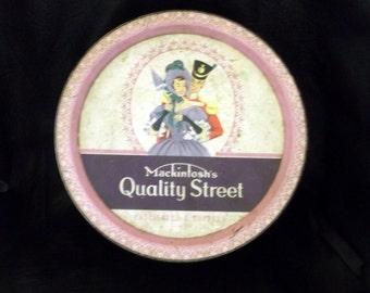 Mackintosh Chocolate and Toffee Tin - Vintage Tin - Tin - Collectible Tin - Mackintosh Tin - Mackintosh Quality Street Tin - Quality Street