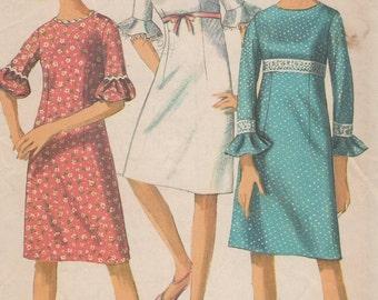 Bust 31-1966 Misses' Dress Simplicity 6441 Size 10
