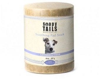 Soapy Tails Dog Pad Salt Soak - 8 oz. - Lavender and Eucalyptus