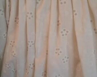 Vintage Eyelet Lace Bedskirt - Shabby Chic Bedskirt - Vintage Bedskirt - Eyelet Bedskirt - Bedskirt