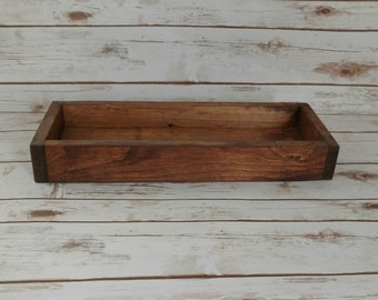 Wood Box Mason Jar Decor Wood Tray Centeriece Box Wooden Home Decor Farmhouse Cottge Decor Wooden Wedding Decor