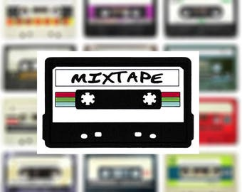 This Is A Patch! DJ Hip Hop Rock Mixtape done in PVC/Rubber/Silicon Patch & Sewing Channel 10cm Mix Tape