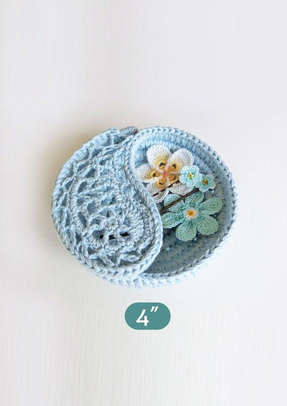 Crochet Pattern Gift For Her Yin Yang Jewelry Dish 4 Paisley
