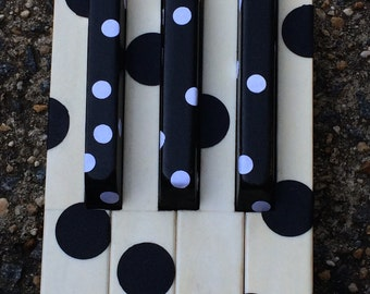 Polka dot, Dots, Piano Keys, Music Art, Piano, Black and white art, Music Gift, Music Artwork, Key Art, Sculpture art, Music notes, artwork