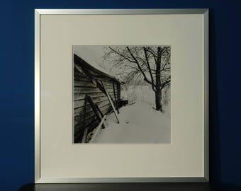Black and white  country photo Tesovo