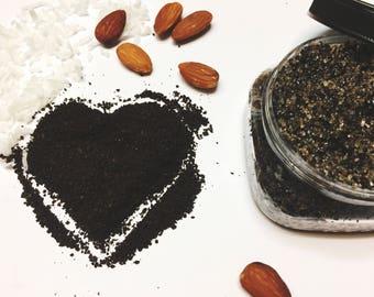 Organic Coffee Scrub/ Coconut Almond Coffee Scrub