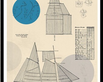 Vitamin Sea - Life Aquatic Art Print No. 3 featuring sails