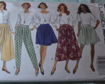 Butterick 5810 Misses / Misses Skirt Split Skirt and Pants Sewing Pattern - UNCUT - Size 12 14 16