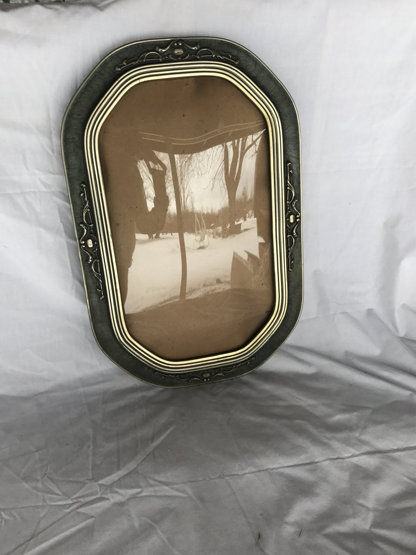 Convex frame antique convex glass bubble glass frame vintage sold by toesinthepond jeuxipadfo Images