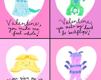 Monster Valentines (Printable File)