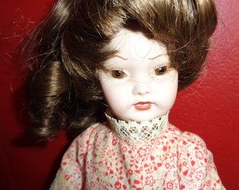 vintage Ooak, artist signed ceramic/bisque doll