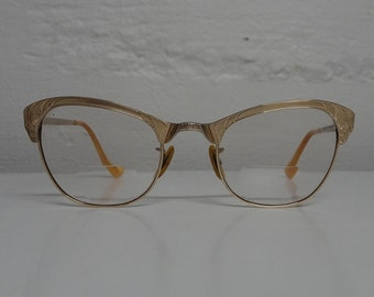 Vintage 12K Gold Filled Cat Eye Eyeglasses - FREE SHIPPING