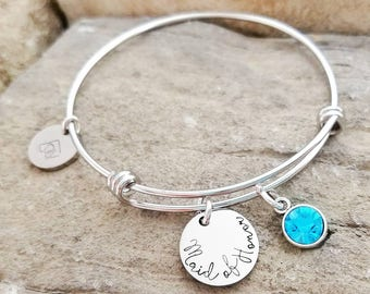 Maid of Honor Jewelry - Maid of Honor Gift -Matron of Honor Bracelet - Matron of Honor Gift - Bridesmaid Gift - Bridesmaid Bracelet