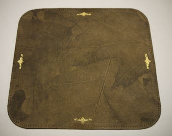 Mouse Pad. Leather Floral Unique Made in USA