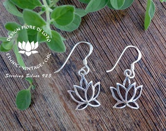 Sterling Silver Lotus Earrings, Lotus earrings, Lotus Lovers,Flower Earrings, Spiritual Earrings, Tiny Lotus, Holi Lotus, Yoga Jewellery