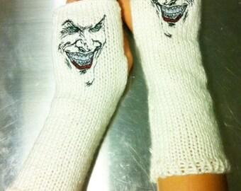 The JOKER DC COMICS Arm warmers / Fingerless gloves / Wrist warmers handmade