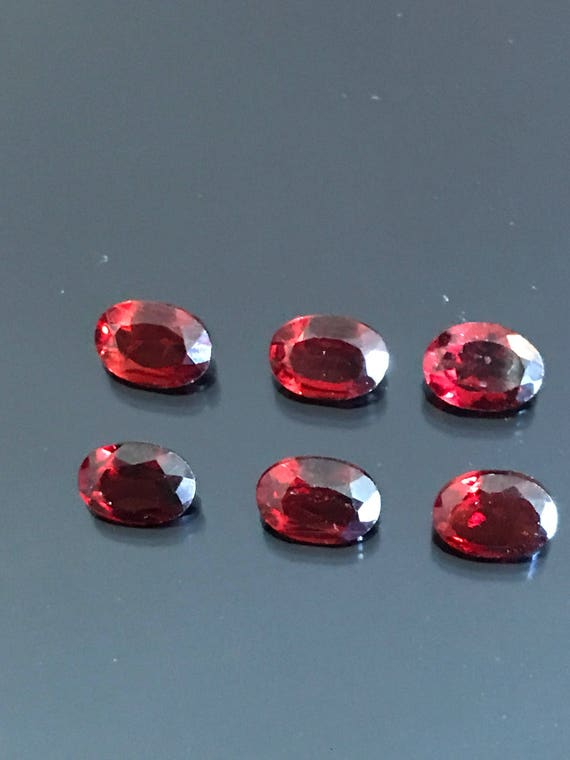 5.5 cttw Faceted Pyrope Garnet Oval Cut Parcel Red