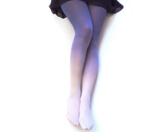 Ombre Tights. WISTERIA Hand dyed