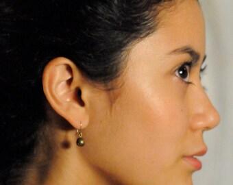 Brass Riemannian Earrings