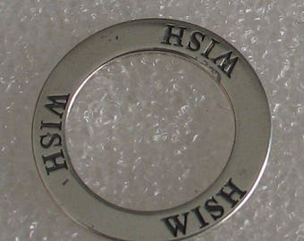 Vintage Wish Charm 20mm Sterling
