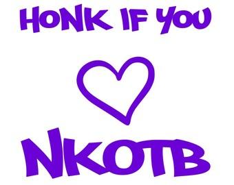 Honk If You 'Love' NKOTB vinyl decal