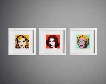 Framed Pop Art print, Andy Warhol print, box frame, Art print, framed art, Pop Art, framed print,  gift