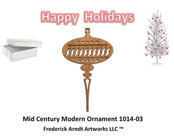 1014-3 Mid Century Modern Christmas Ornament