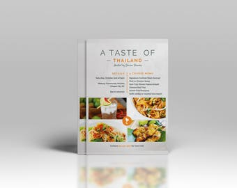Event Flyer, Pop-Up Dining Flyer, Pop-Up Event Flyer, Small Business Flyer, Restaurant Flyer, Menu, Pop-Up Menu