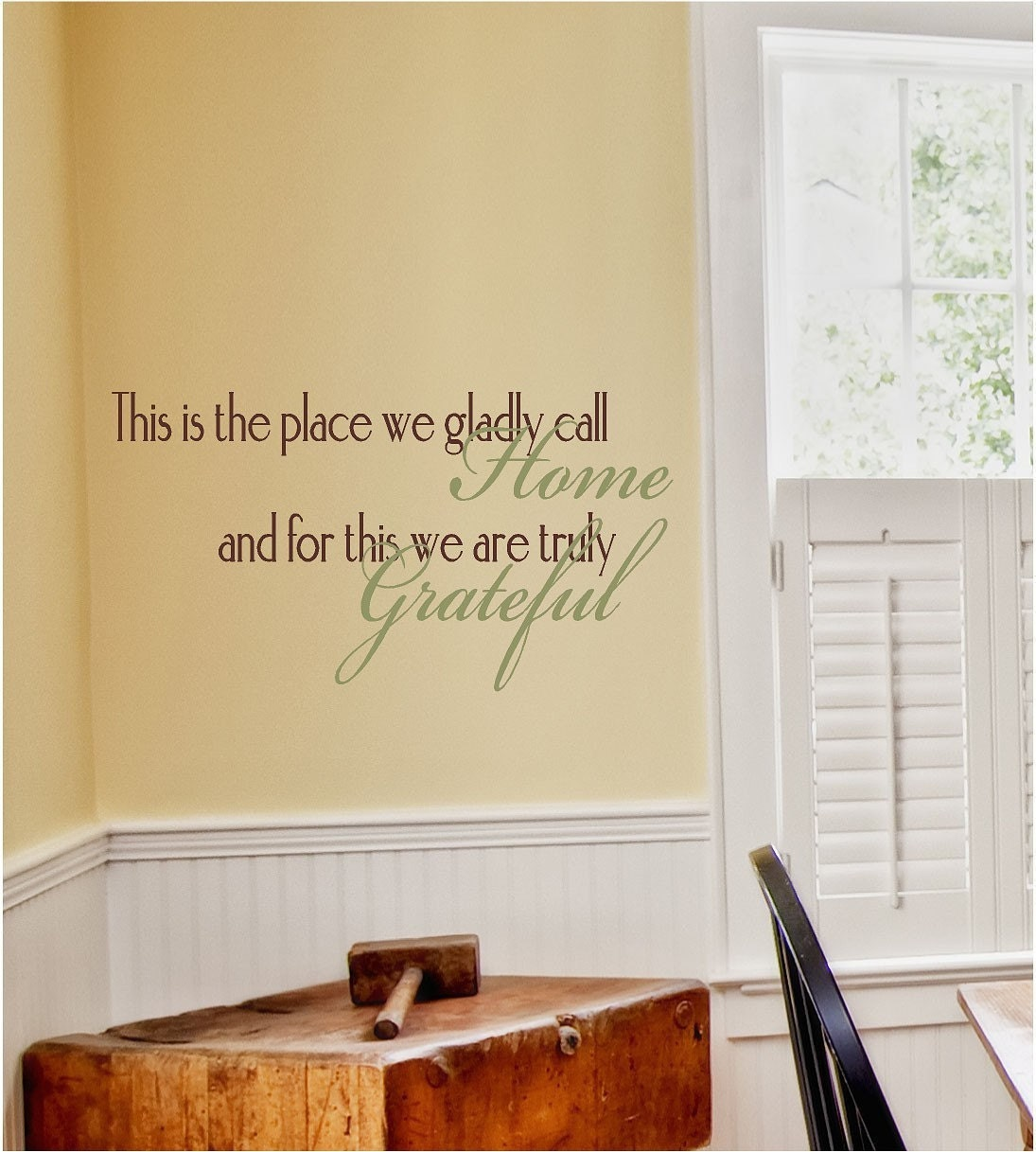 This is the Place We Gladly Call Home Vinyl Wall Decal Home
