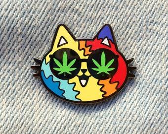 Meowy Jane Stoner Cat Enamel Pin