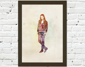 0055 Dr Who Amy Pond A3 Wall Art Print Multiple Sizes