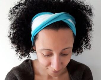 Funky Stripe Twist Style Yoga Headbands