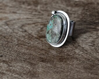 Green Turquoise Ring   Sterling Silver Ring   Silver Ring   Turquoise Jewelry   Semiprecious Stone   Turquoise Gemstone   Gifts For Women