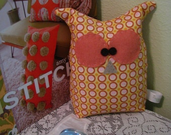 Owl Bookend Door Stop Pillow Template and Instructions