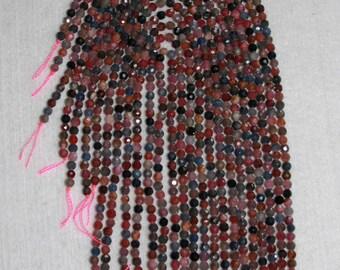 Sapphire, Multicolor Sapphire, Sapphire Bead, Faceted Bead, Natural Stone, Precious Stone, Sparkle Bead, Full Strand, 4mm, AdrianasBeads