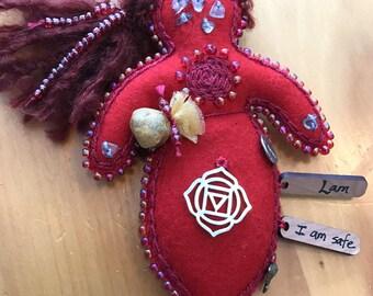 Racine de Chakra poupée, poupée d'Art de guérison, esprit poupée, poupée de médecine, énergie poupée