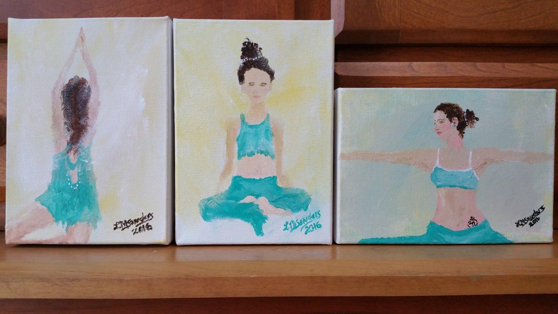original yoga painting omwoman yoga meditate. Beautiful Yoga Zoom With Original Yoga Painting Omwoman Meditate