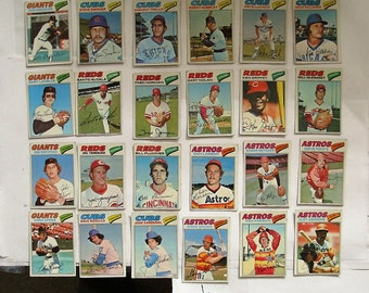 These 24 (poor cond)  MAJOR League Baseball cards. Topps brand 1977 Cards.  PLEASE see description