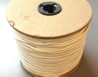 ON SALE!!! Cord Elastic - White - 1/8 inch - 120 yard Spool
