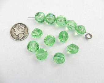 Swarovski 5101 Peridot 10MM Vintage Beads (2 pieces)