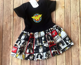 Superhero Dress, Girl's Wonder Woman Dress, Hero Dress, Kid's Super Hero Outfit, Wonder Woman