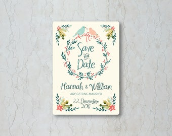 Winter Garden Wedding Save the Date Card or Magnet