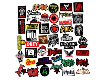 6 pcs Wholesale Metal Rock Punk Indy Music Band Sew Iron On Patch Applique Gift Random