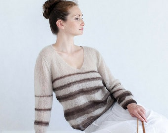 handmade sweater for women, knit, unique, ready-to-ship // DREVNO