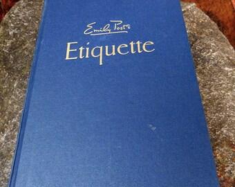 Vintage Ettiquette The Blue Book of Social Usage by Emily Post - 1960 - DustyMillerAntiques