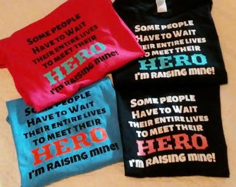 I'm raising my hero Hoodie sweatshirt tshirt custom extended sizes available front back pullover glitter 2x 3x 4x autism sports parent mom