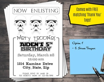 Star Wars Birthday Greeting Free ~ Star wars birthday invitation card starwars opening crawl